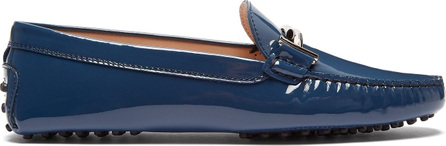 Tod's Gommino T-bar patent-leather loafers