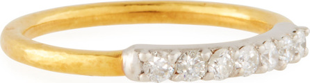 GURHAN 22k Gold Delicate Geo Pave Band Ring, Size 7