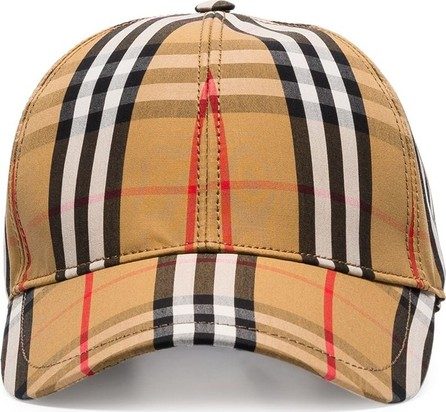 Burberry London England Yellow, black and red vintage check baseball cap