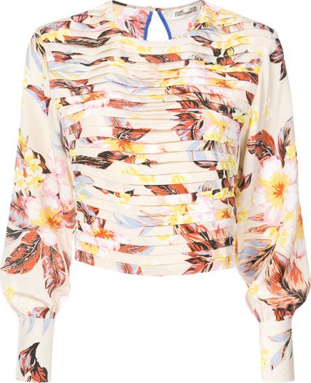 DIANE von FURSTENBERG Folded floral blouse