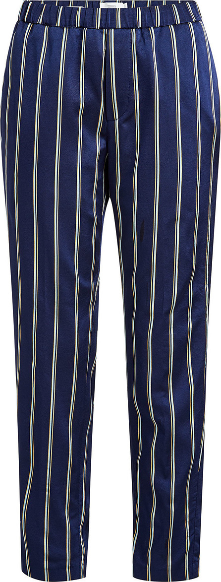 Closed Striped Pants with Cotton
