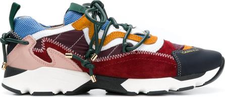 Carven Colour block lace-up sneakers