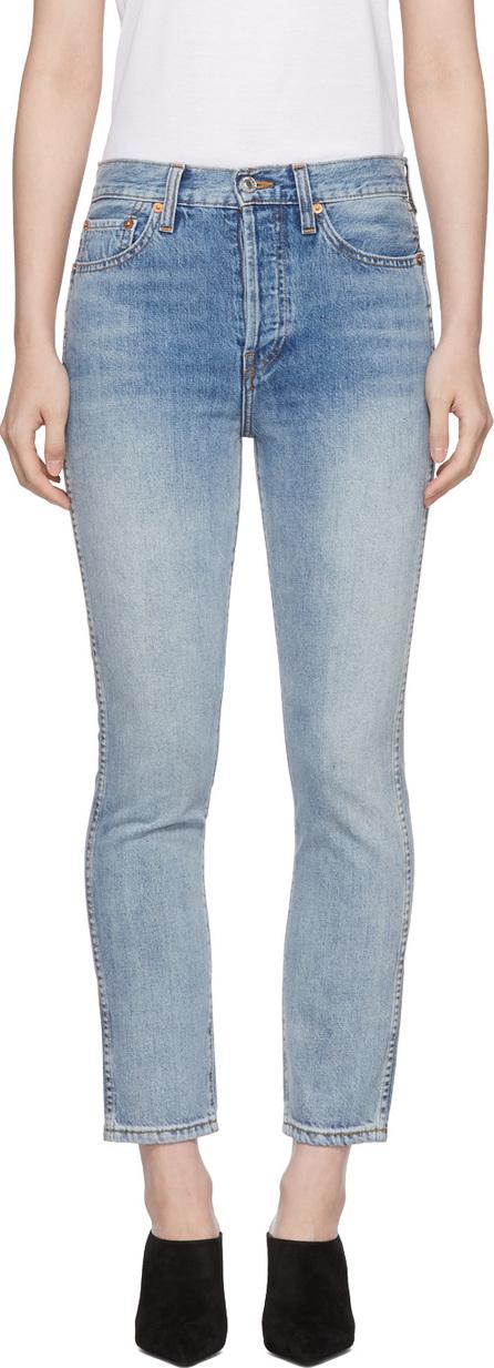 RE/DONE Blue Originals Double Needle Crop Jeans