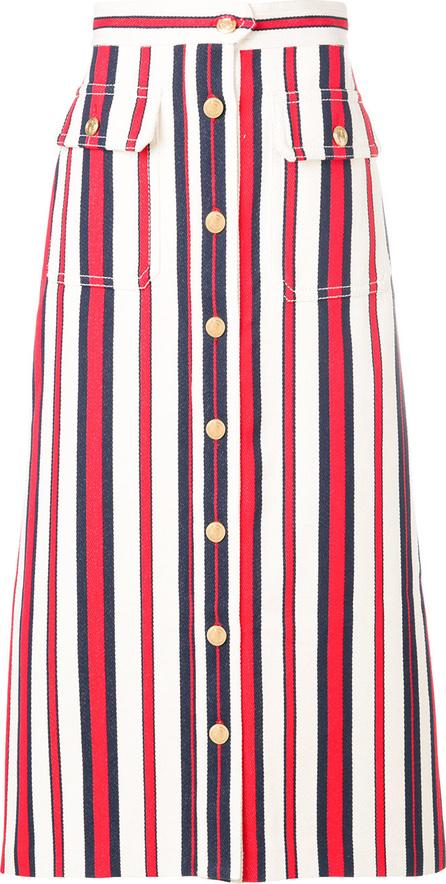 Gucci Striped denim long skirt
