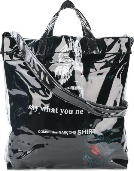 Comme Des Garcons laminated shopper bag
