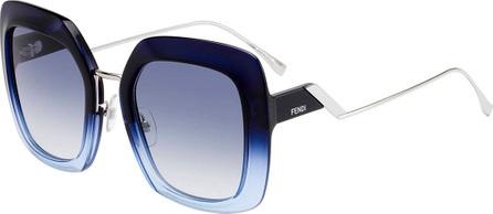 Fendi Oversized Square Acetate & Metal Sunglasses