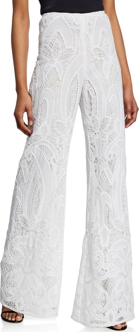 Alexis Ritchie High-Rise Lace Pants