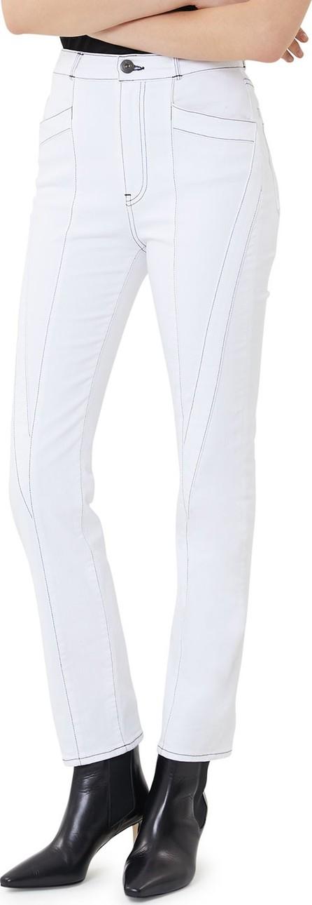 3X1 W4 Paneled High-Rise Straight-Leg Jeans