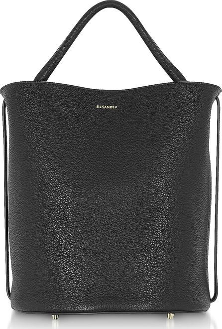 Jil Sander Black Large Leather Bucket Bag