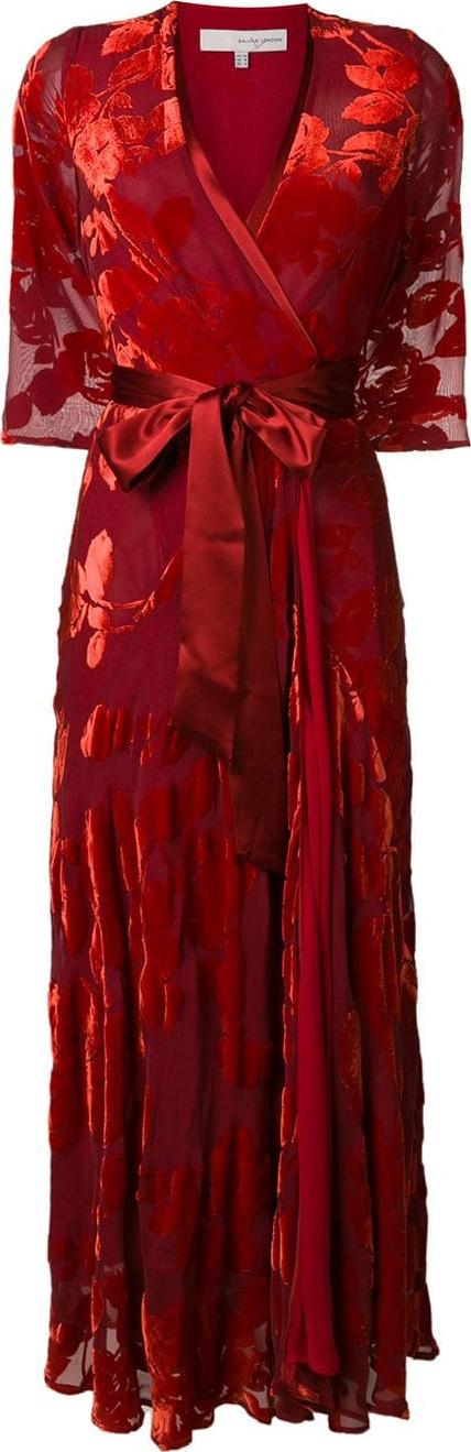 Galvan Floral print wrap dress