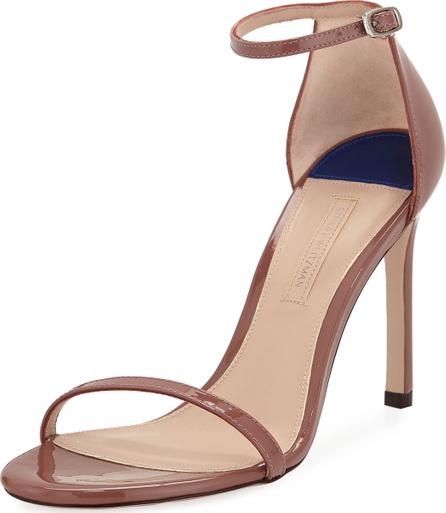 Stuart Weitzman Nudistsong Patent Strappy Sandals