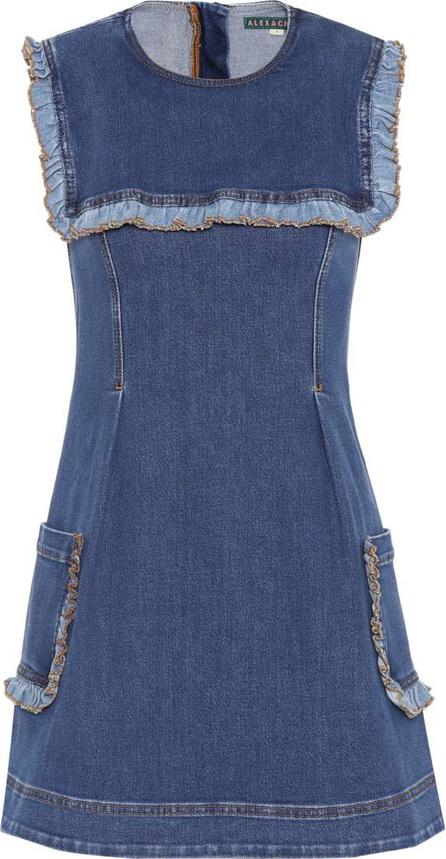 Alexachung Ruffled denim dress