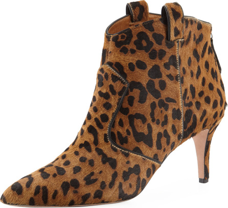 Veronica Beard Lexi Leopard-Print Calf Hair Pointed 65mm Booties