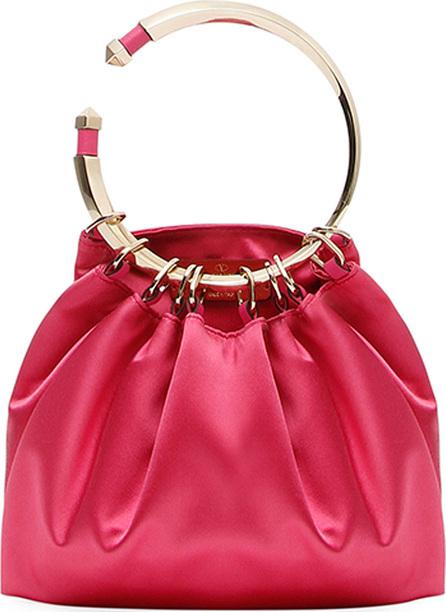 Valentino Bebop Loop Satin Clutch Bag