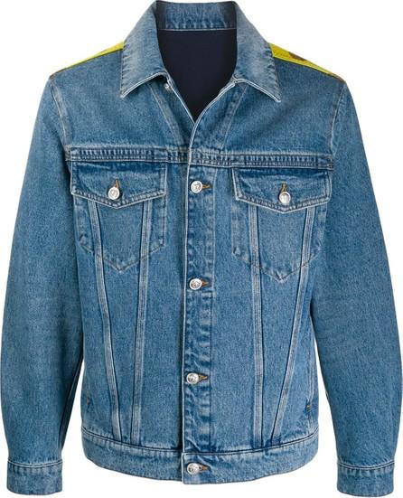 Versace Contrast print denim jacket