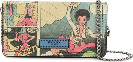 Prada Comic print chain wallet