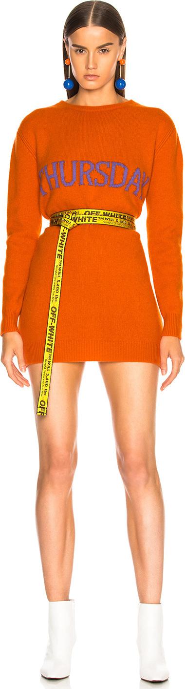 Alberta Ferretti Thursday Crewneck Sweater Dress
