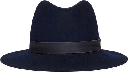 Janessa Leone 'Jemma' organza band wool felt fedora hat