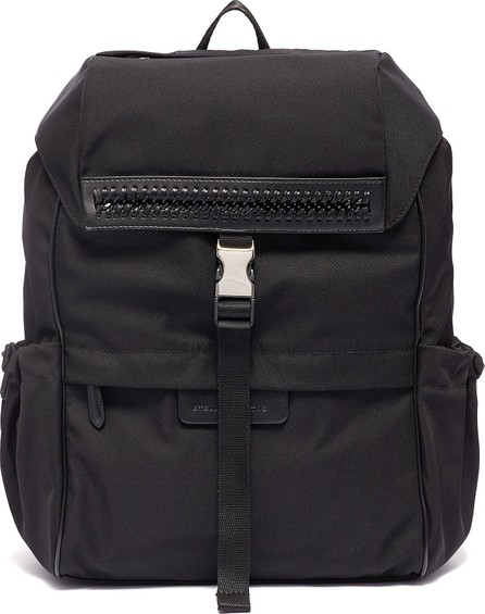 Stella McCartney Curb chain trim logo strap mini backpack