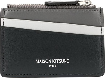 Maison Kitsune Colour block card holder