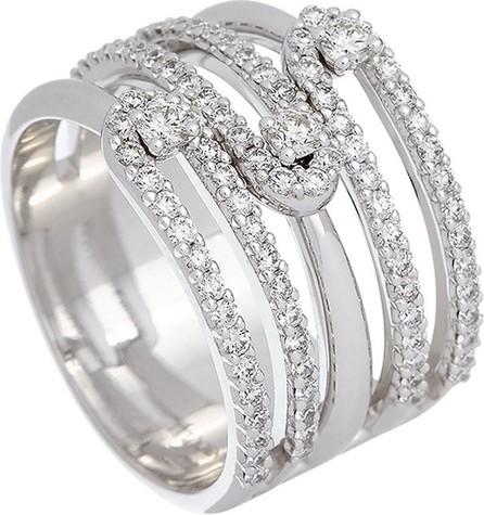 Istanboulli Gioielli Milano Anima 18k White Gold 5-Row Diamond Ring, Size 7.5