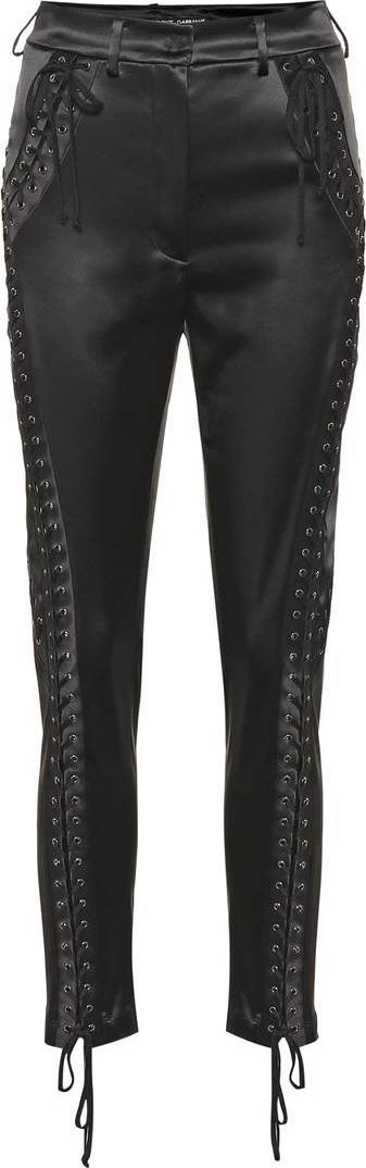 Dolce & Gabbana Lace-up satin skinny pants