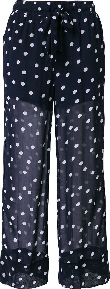 Ganni Polka dot sheer trousers
