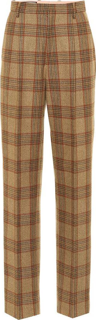 Gucci Plaid wool pants