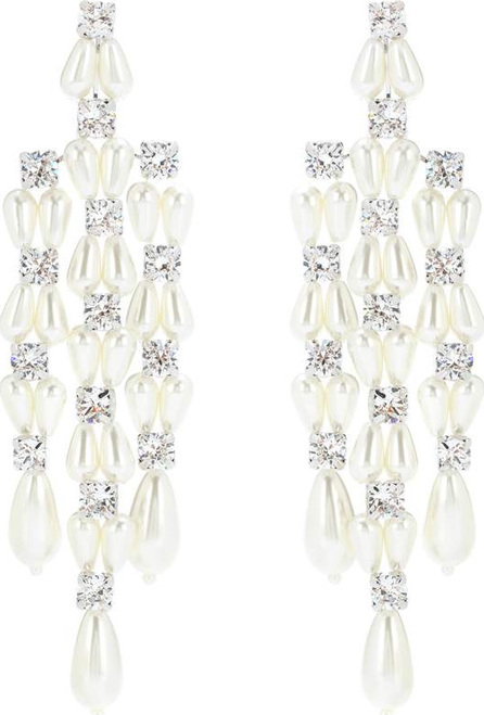 Simone Rocha Crystal and faux-pearl earrings