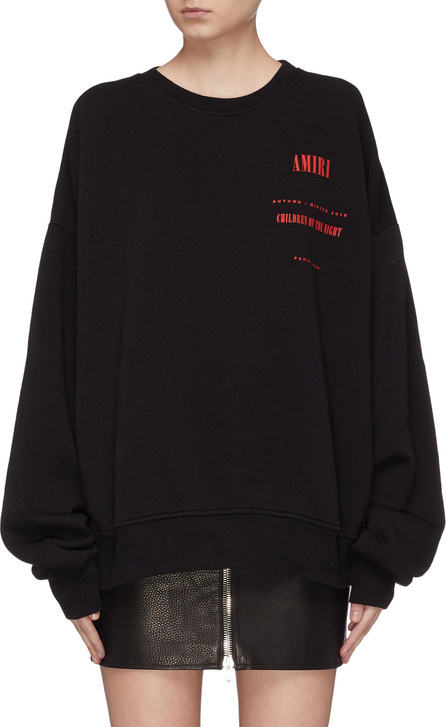 Amiri 'Children of the Night' slogan graphic print sweatshirt