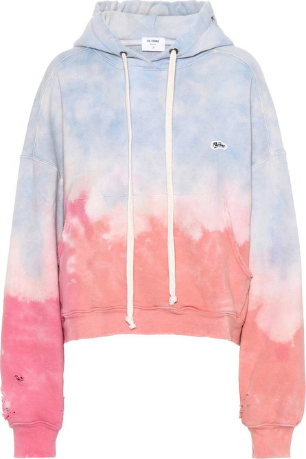 RE/DONE Tie-dye cotton hoodie