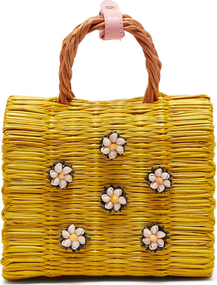 Heimat Atlantica Margarita mini woven basket bag