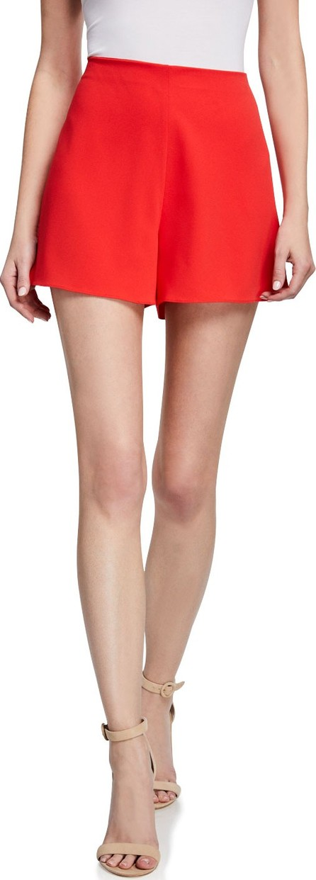Alice + Olivia Athena Clean Waist Wide-Leg Shorts