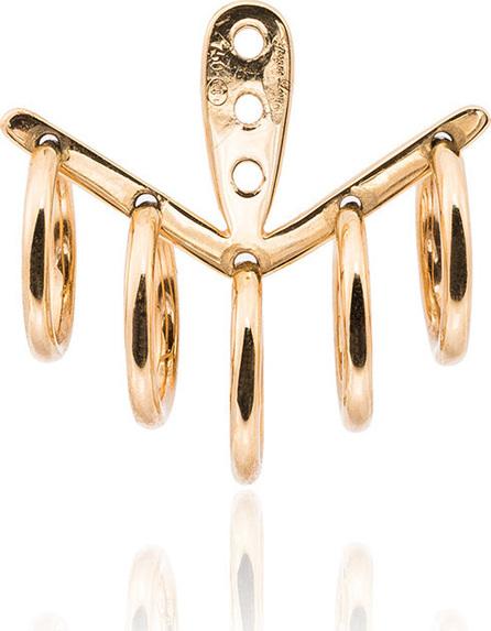 Yvonne Leon 18k yellow gold 5 Creoles earring