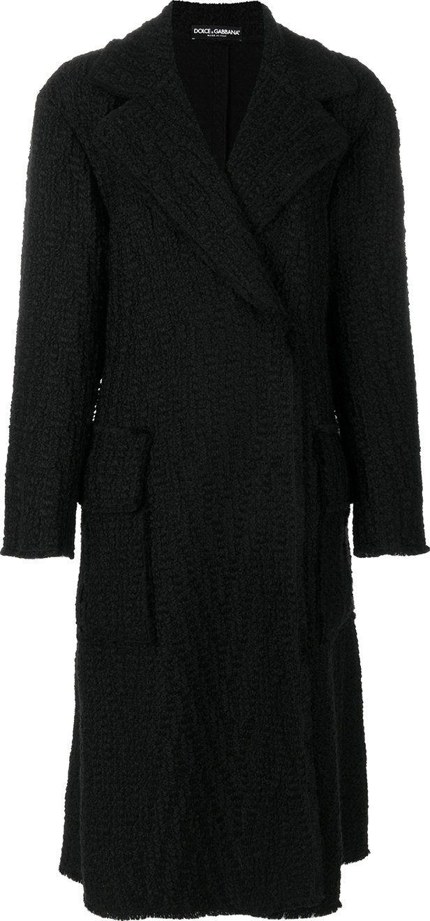 Dolce & Gabbana - textured maxi coat