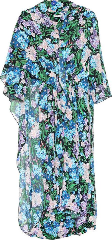 Balenciaga Floral-printed crêpe dress