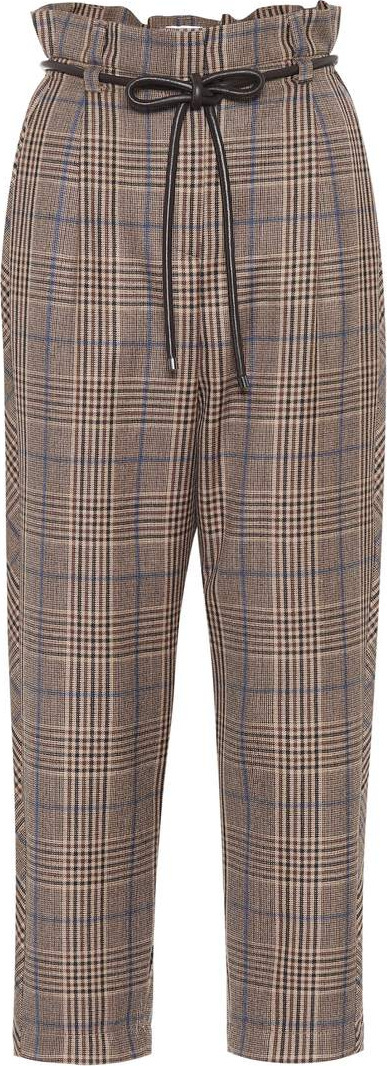 Brunello Cucinelli Checked wool pants