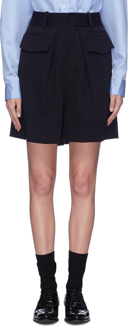 Ms MIN Wide leg wool cargo shorts