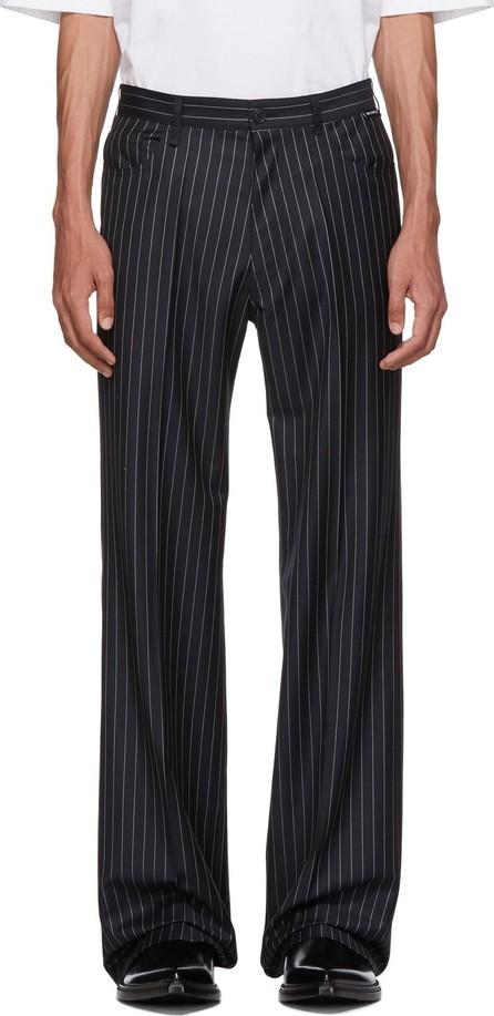 Balenciaga Navy Wool Trousers