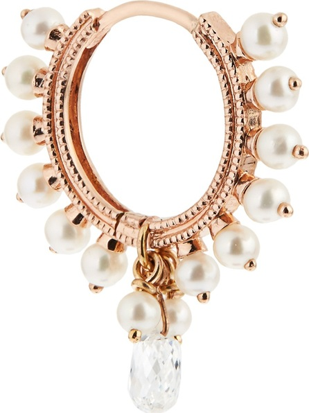 Maria Tash Diamond, pearl & rose-gold earring