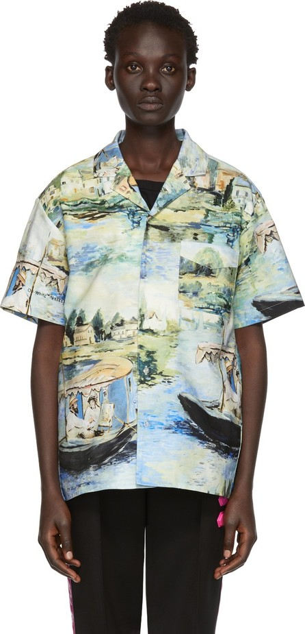 Off White Multicolor Lake Holiday Shirt