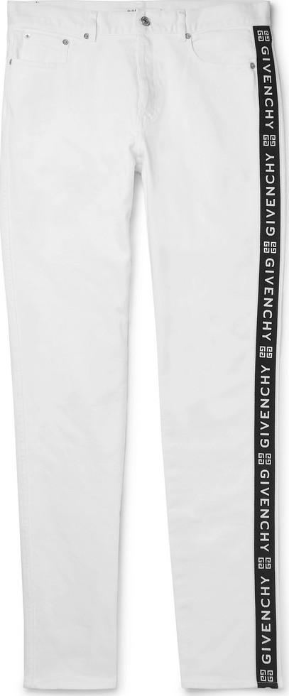 Givenchy Slim-Fit Logo-Jacquard Stretch-Denim Jeans
