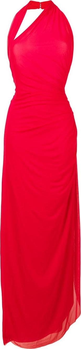 Alexander McQueen Ruched design evening dress