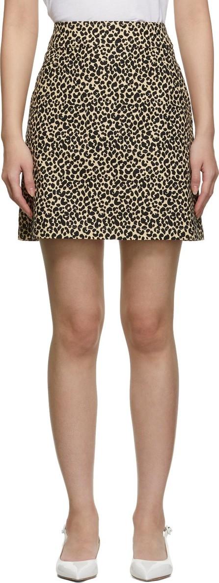A.P.C. Beige & Black Leopard Shanya Miniskirt