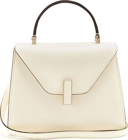 Valextra Iside mini saffiano-leather cross-body bag