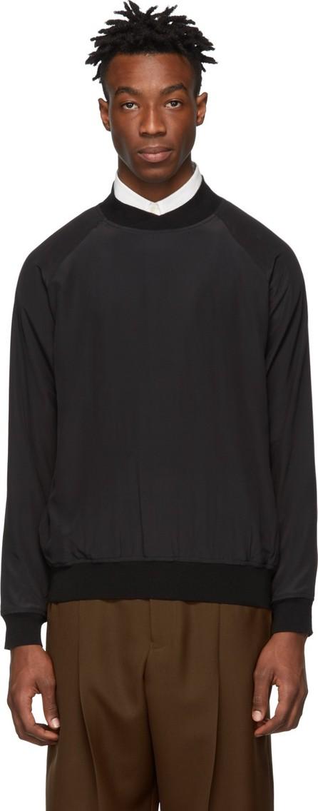 Haider Ackermann Black Silk Sweatshirt