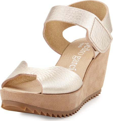 Pedro Garcia Fama Leather Wedge Sandal