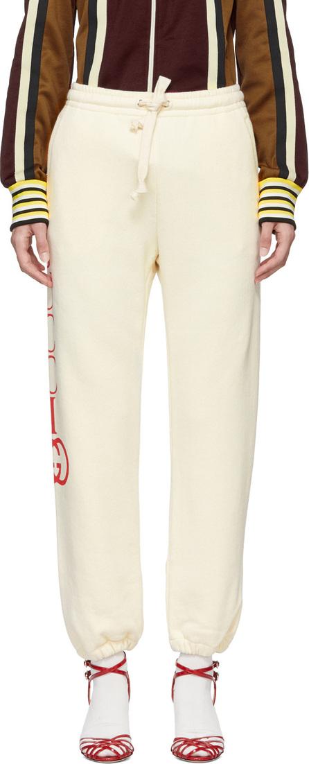Gucci White Interlock GG Lounge Pants