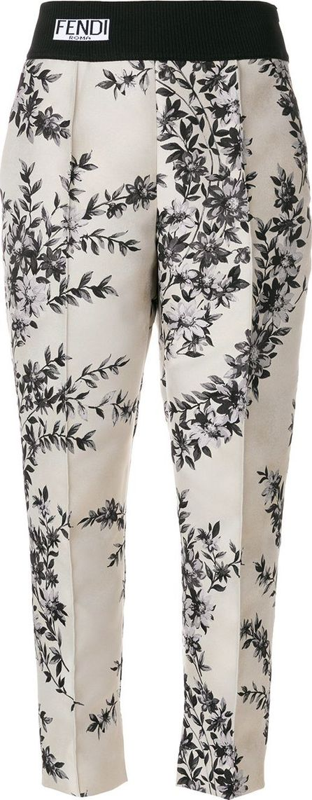 Fendi Tailored printed trousers