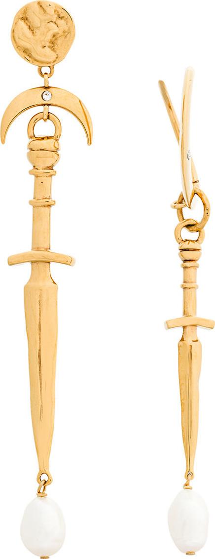 Givenchy Asymmetric dagger earrings